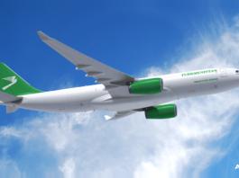 Avião Airbus A330-200P2F Turkmenistan