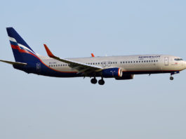 Avião Boeing 737-800 Aeroflot