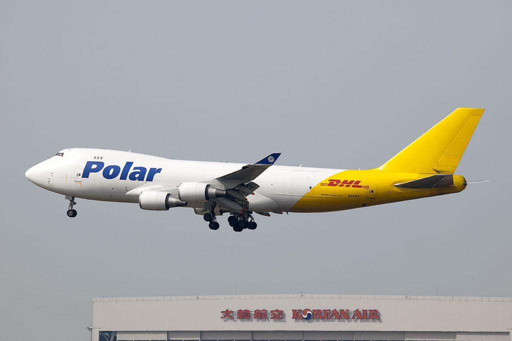Avião Boeing 747-400F Polar DHL