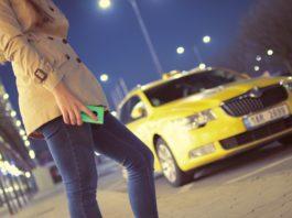 airport cab car person