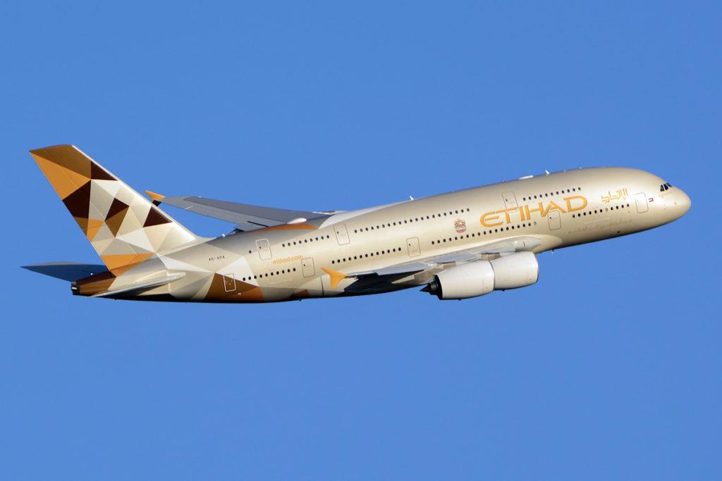 Avião Airbus A380 - Etihad Airways