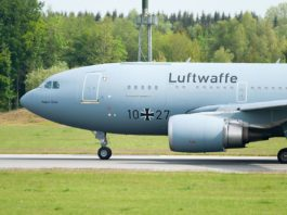 Avião Airbus A310 MRTT Luftwaffe Alemanha