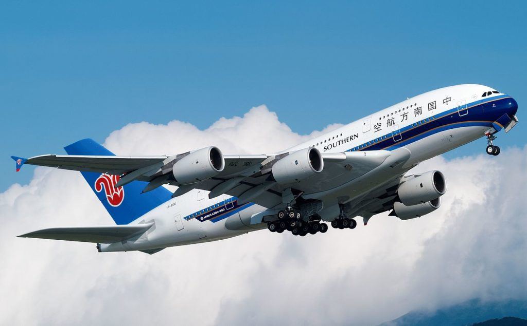 Avião Airbus A380 China Southern Airlines