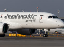 Avião Embraer E190-E2 Helvetic Airways