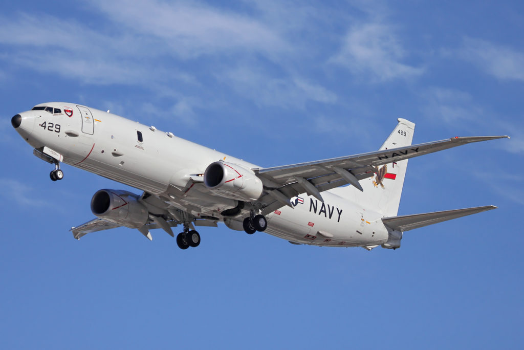 Avião Caçador Submarino US Navy Boeing 737NG P-8A Poseidon