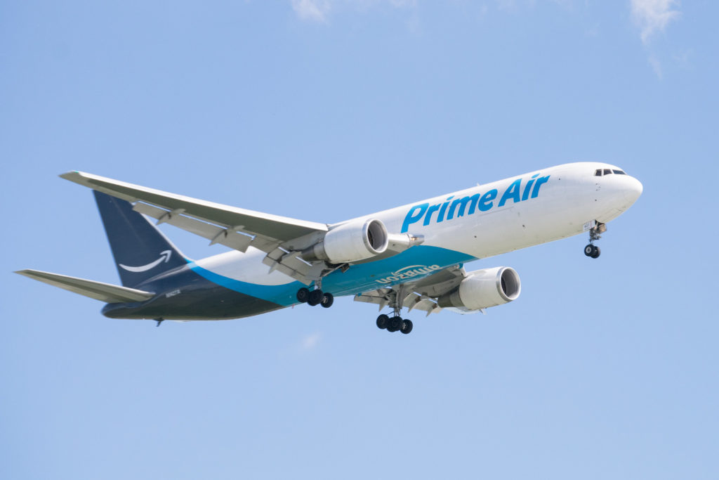 Avião Boeing 767-300F cargueiro Amazon Prime Air