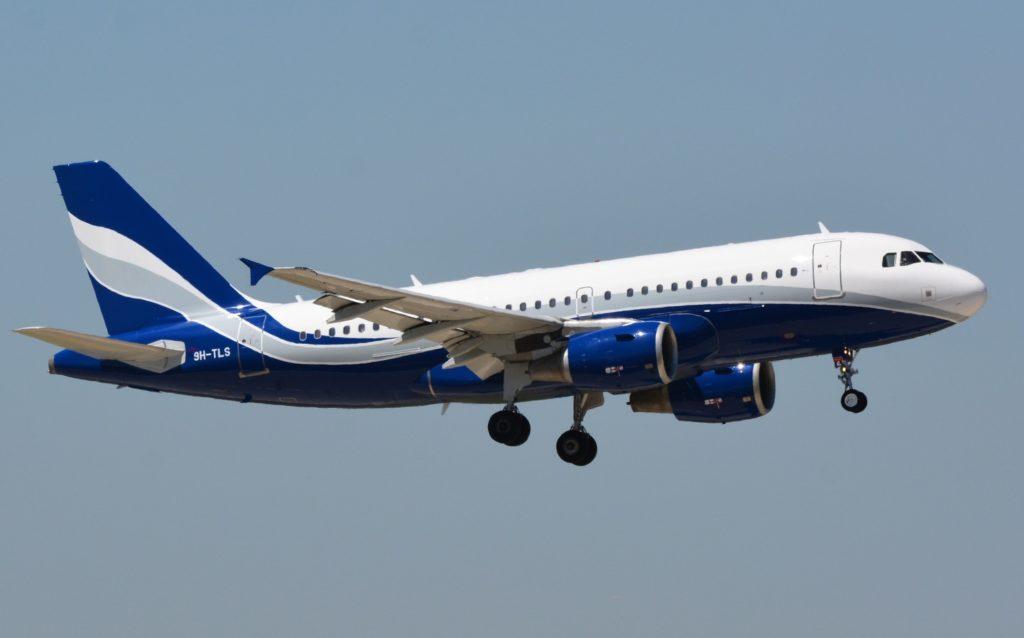 Avião Airbus A319 HiFly Malta
