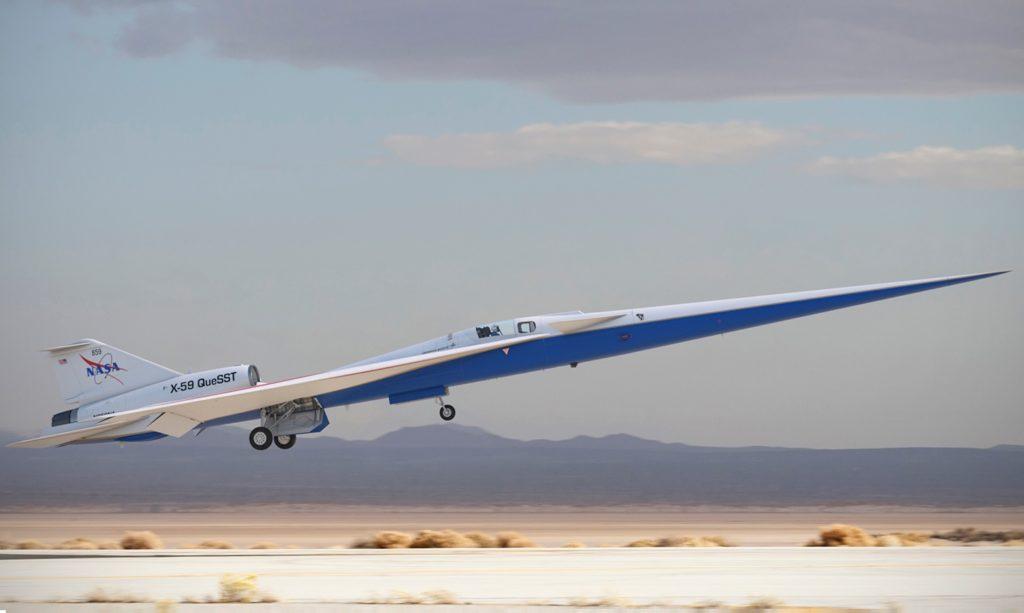 NASA Avião X-59 Quiet QueSST Supersônico Silencioso