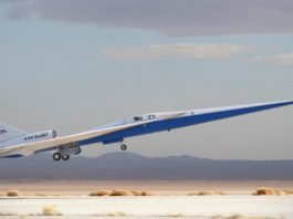 NASA Avião X-59 Quiet QueSST Supersônico Silencioso
